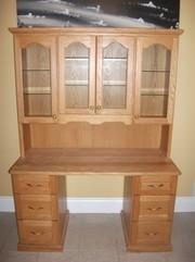 Wooden Oak Kitchen Hutch For Sale