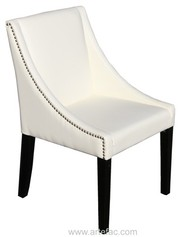 Leather Chair W/Silver Nail Head
