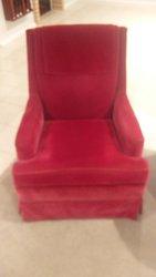 Burgendy arm chair