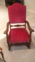 Burgendy rocking chair